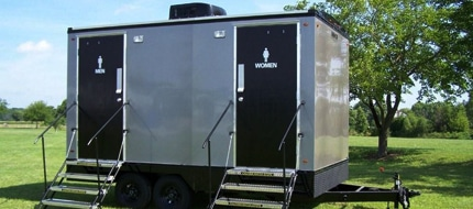 vip portable restroom trailers in Des Moines IA